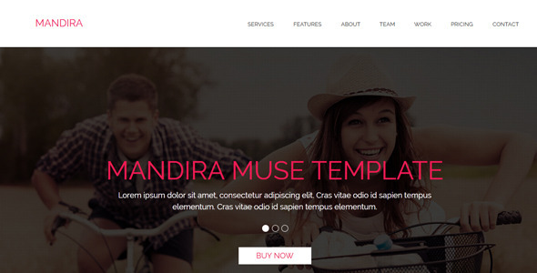 Mandira - Multipurpose Muse Template - Corporate Muse Templates