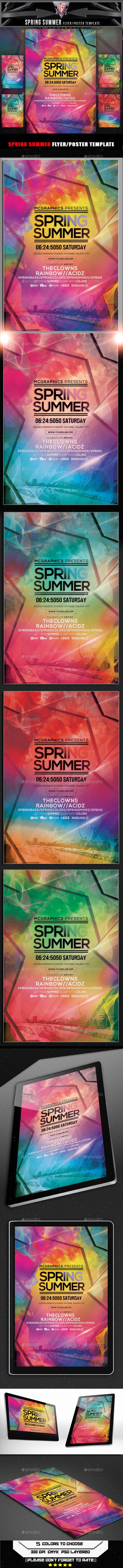Spring Summer Flyer Template