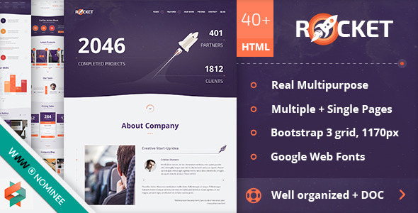 Rocket - Creative Multipurpose HTML Template