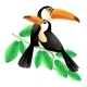 Two Toucans Sitting on a Branch - GraphicRiver Item for Sale