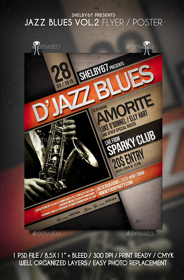 Jazz Blues Flyer / Poster Vol.2 - Events Flyers