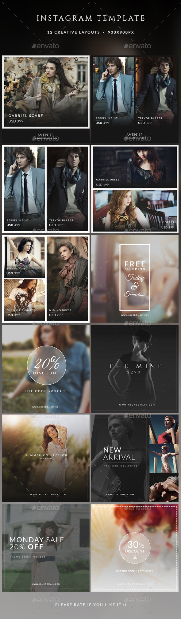 Instagram Promotions Banner - Miscellaneous Social Media