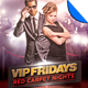 VIP Fridays Red Carpet Nights Flyer Template