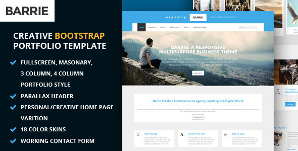 Barrie : Creative Multipurpose HTML Template