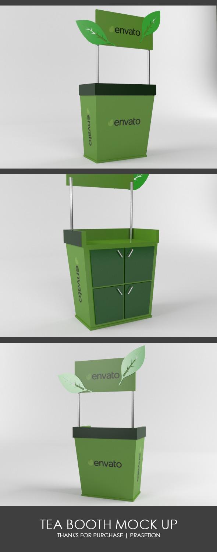 Tea Booth Mock Up - 3DOcean Item for Sale