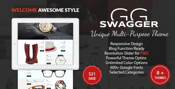 SWAGGER - Multi-Purpose PrestaShop Theme