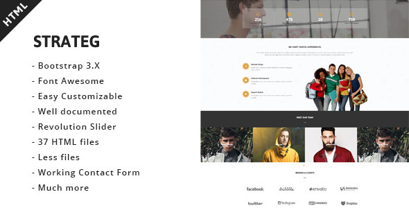 Strateg – Multipurpose HTML5 Template