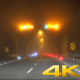 Night Fog in the City Highway Traffic - VideoHive Item for Sale
