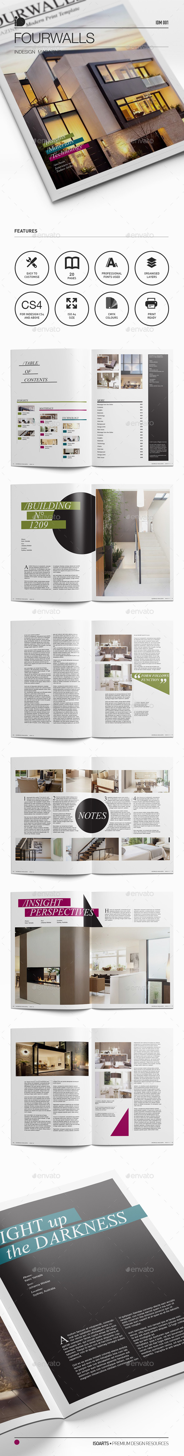 Magazine Template • Fourwalls - Magazines Print Templates