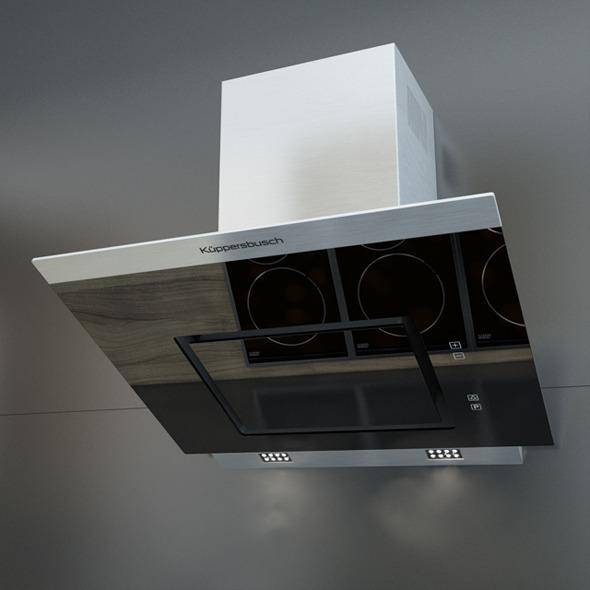 Kuppersbusch KD 7610 Black Kitchen Hood - 3DOcean Item for Sale