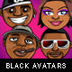 18 Cool Avatars of Black People - GraphicRiver Item for Sale