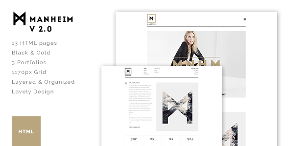 Manheim – Creative HTML Template