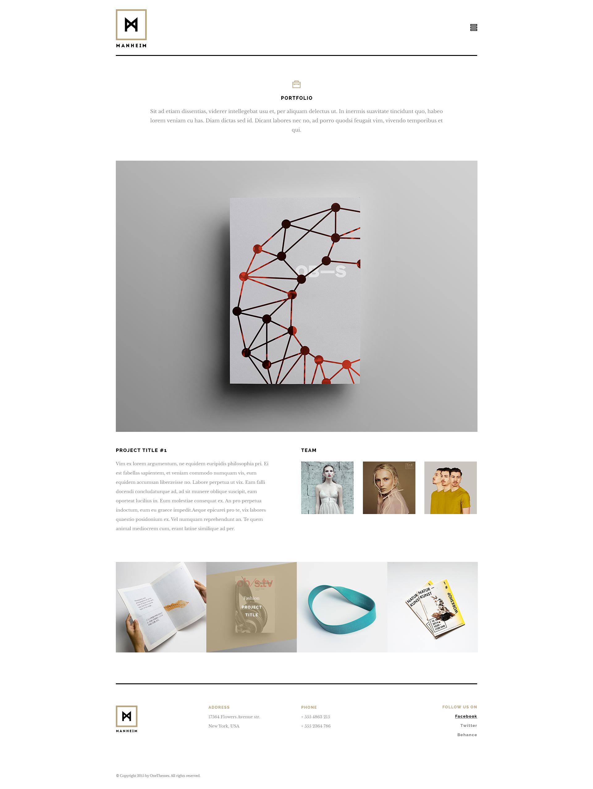 Manheim - Creative HTML Template by unyfox | ThemeForest
