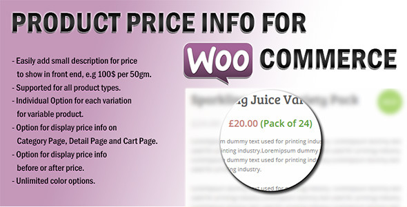 Product Price Info For WooCommerce - CodeCanyon Item for Sale