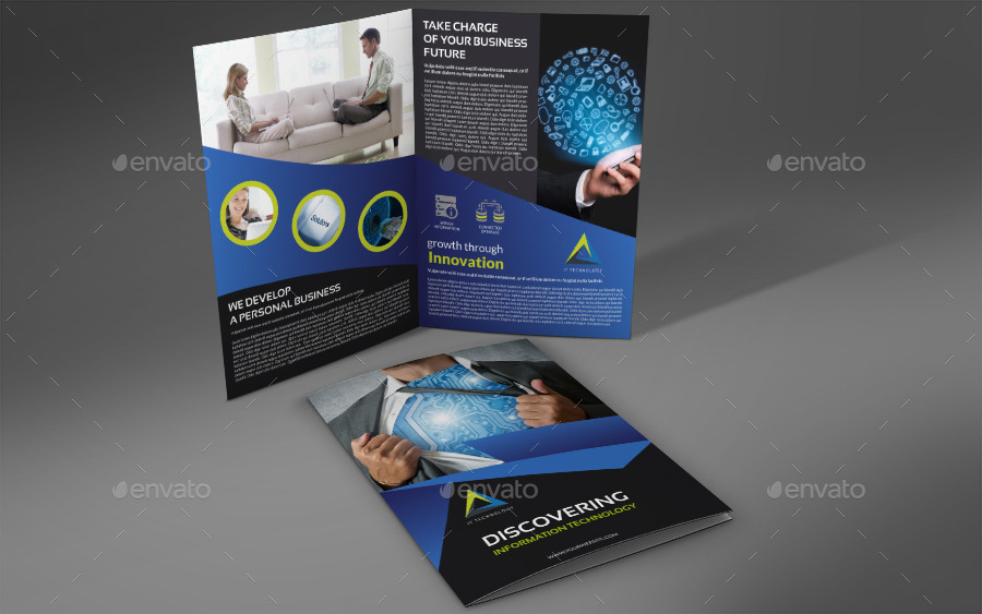 it company brochure bi fold template