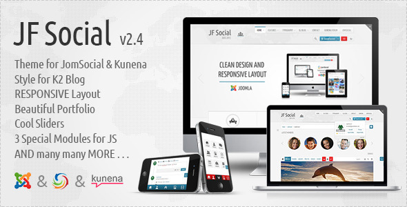 JF Social – Joomla JomSocial Kunena Template