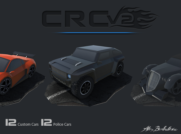 CRCV2 – Cartoon Race Car V2  - 3DOcean Item for Sale