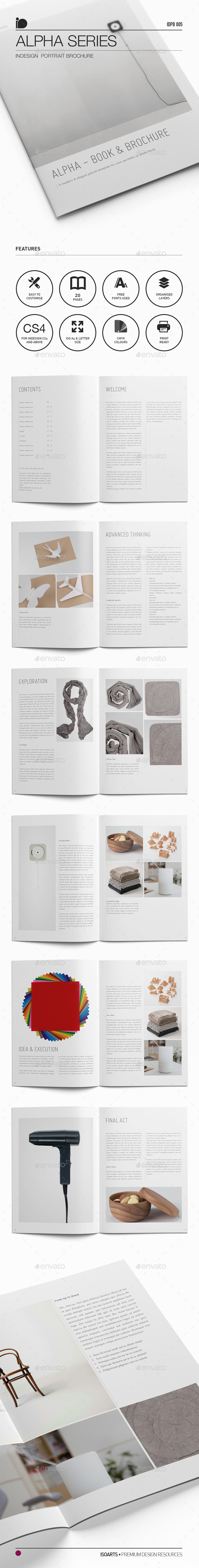 Portrait Brochure • Alpha Series - Portfolio Brochures