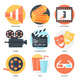 9 Cinema Icons - GraphicRiver Item for Sale