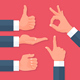 Men Hands Icons Set - GraphicRiver Item for Sale