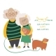 Elderly Couple With Their Dog - GraphicRiver Item for Sale