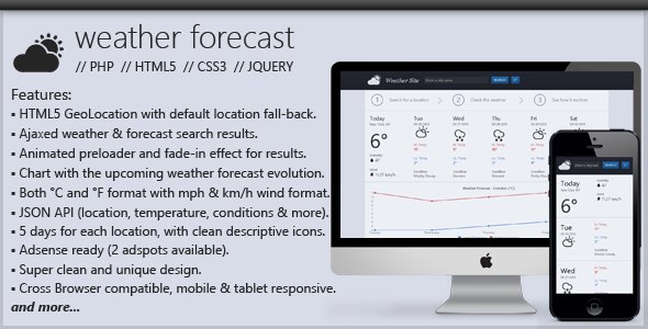 PHP Weather Forecast Script - CodeCanyon Item for Sale