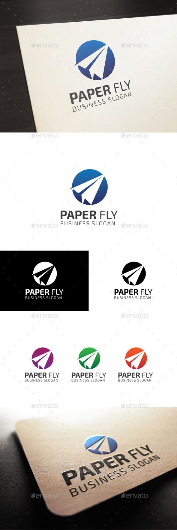 Paper Fly - Symbols Logo Templates