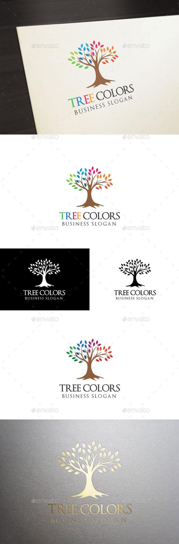Tree Colors - Nature Logo Templates