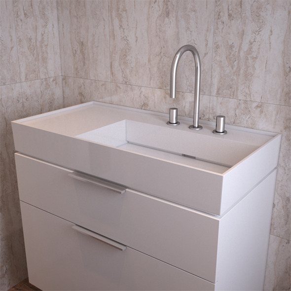 Bathroom Sink Laufen Kartell 810339 - 3DOcean Item for Sale