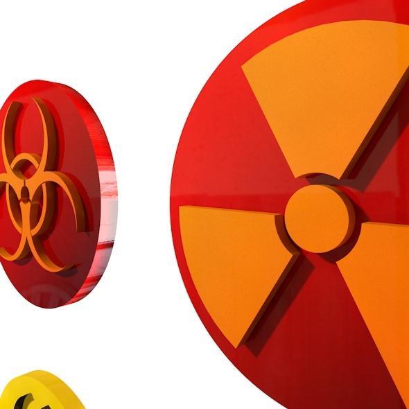 Biohazard Logo - 3DOcean Item for Sale