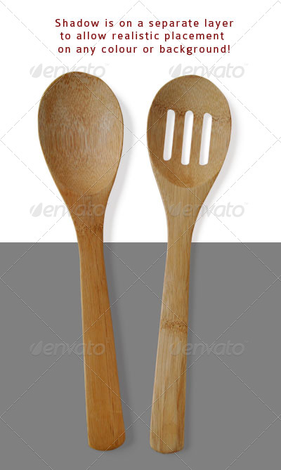 Wooden Spoons - Food & Drink Isolated Objects
