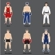 Set of Different Fighters - GraphicRiver Item for Sale