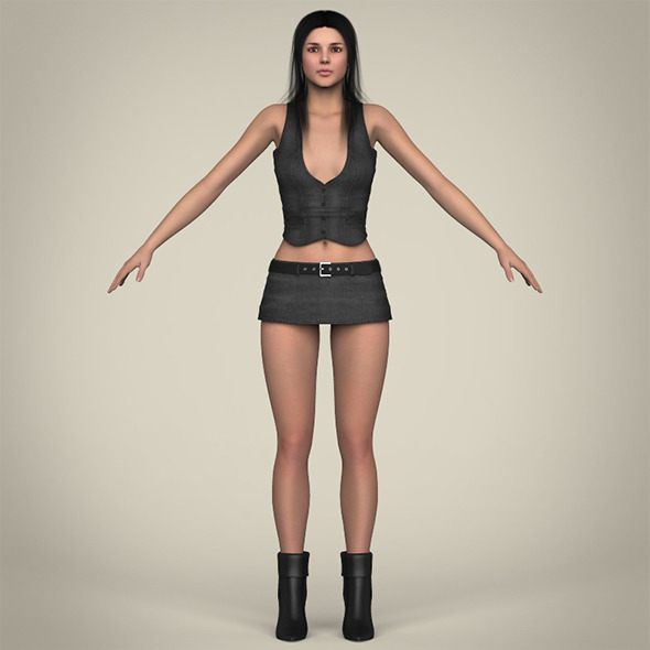 Realistic Beautiful Sexy Girl - 3DOcean Item for Sale