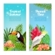 Tropical Island Bird Banners
