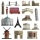 Travel Landmark Icons - GraphicRiver Item for Sale