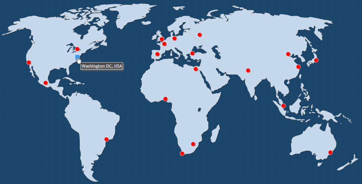 Interactive World Map With Cities by Art101 CodeCanyon