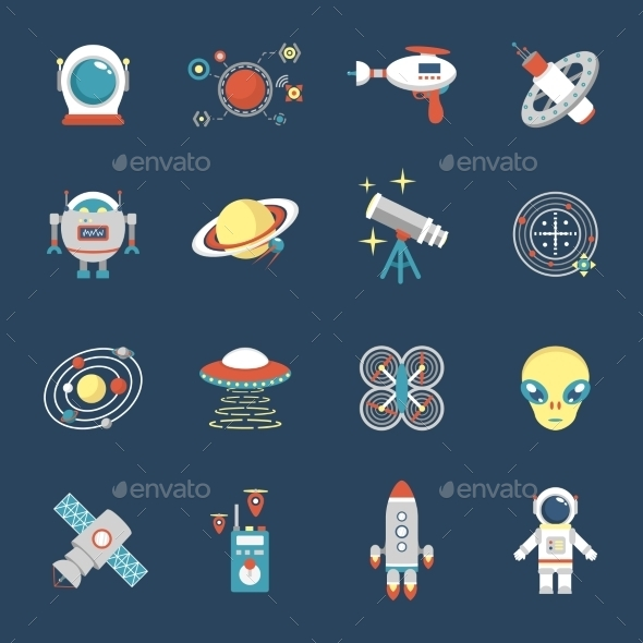 Fiction Icon Set - Miscellaneous Conceptual