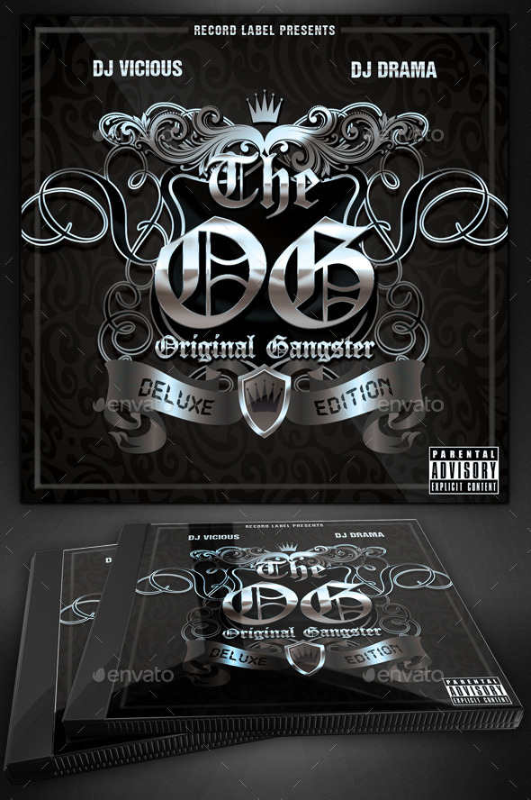 Original Gangster Mixtape Cover - CD & DVD Artwork Print Templates