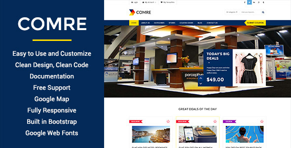 Comre – Coupon & Offers HTML Template
