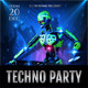 Techno Party Flyer - GraphicRiver Item for Sale