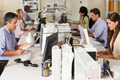 Team Working At Desks In Busy Office - PhotoDune Item for Sale