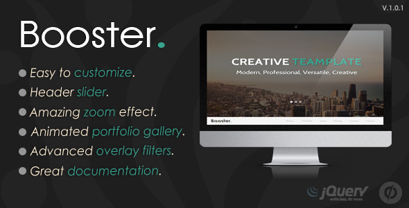 Booster – Unbounce Multipurpose Template