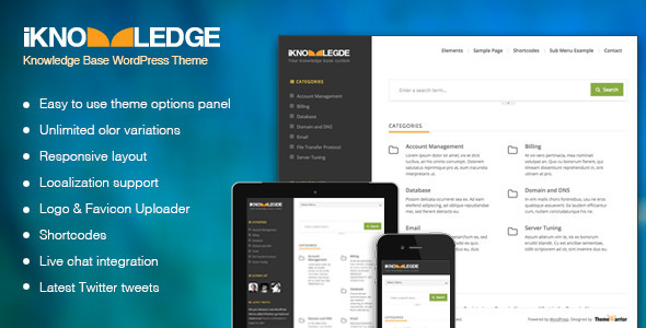 iKnowledge – Knowledge Base / Wiki WordPress Theme