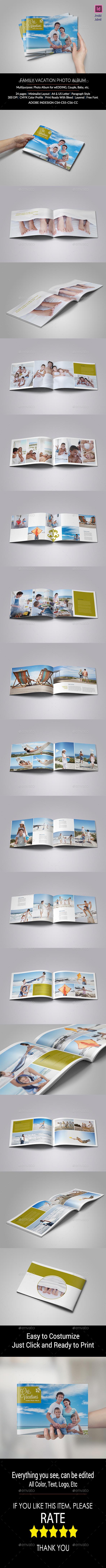 family vacation photo album photo albums print templates