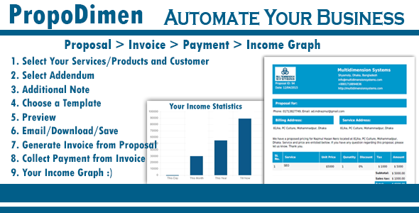PropoDimen - Automate Your Business Through Business Proposal - CodeCanyon Item for Sale