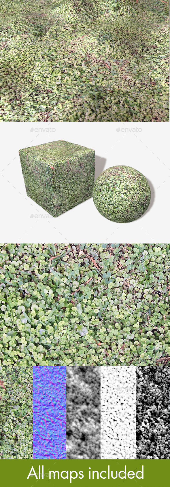 Clover Ground Seamless Texture - 3DOcean Item for Sale