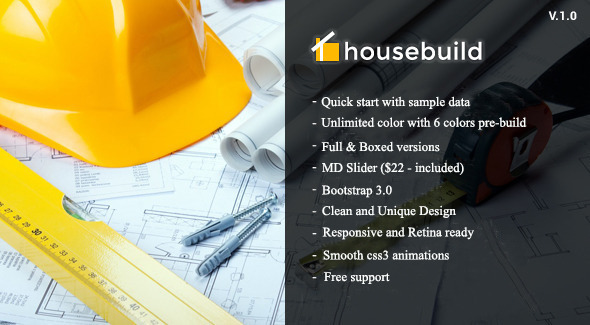 Housebuild – Construction Drupal Theme