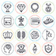 Achievements and Awards Line Icons - GraphicRiver Item for Sale