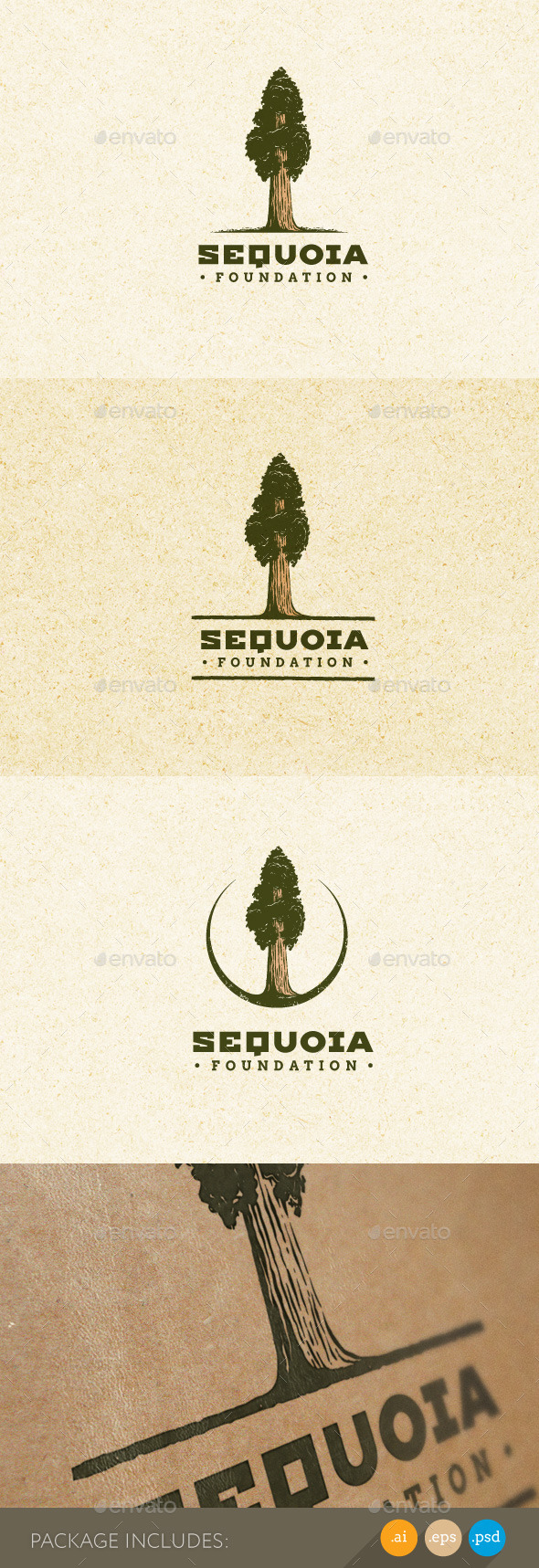 Sequoia Tree Outdoor Park Natural Logo - Nature Logo Templates