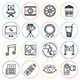 Cinema and Entertainment Line Icons - GraphicRiver Item for Sale